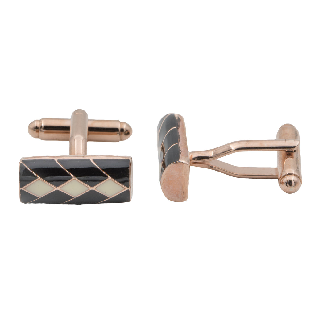 Inigo Cufflinks - Black and Ivory - AZGA