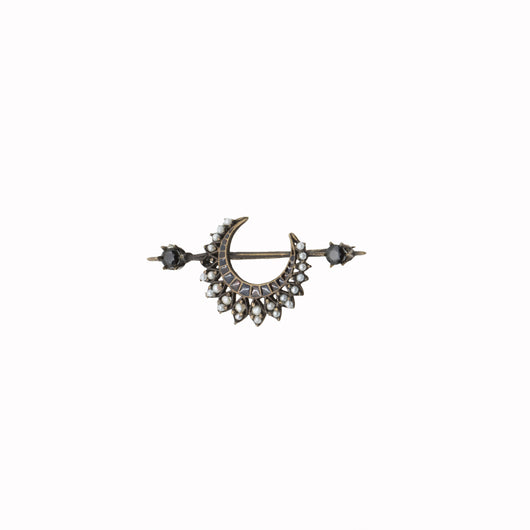 Crescent Moon Brooch - AZGA