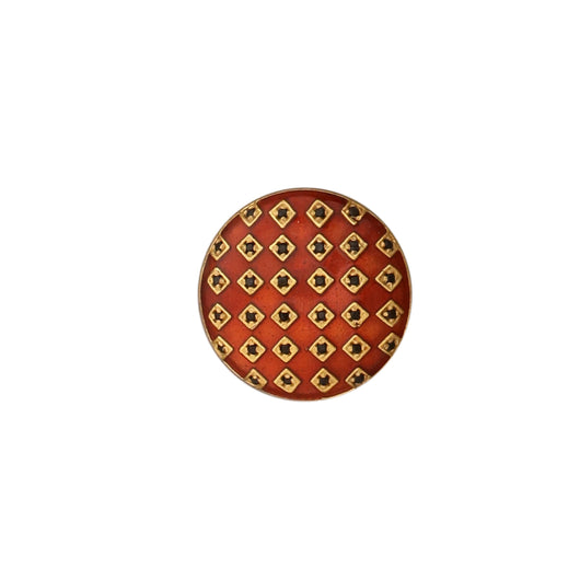 Gingham button set - Red