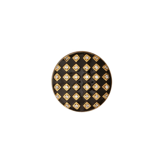 Gingham button set - Black