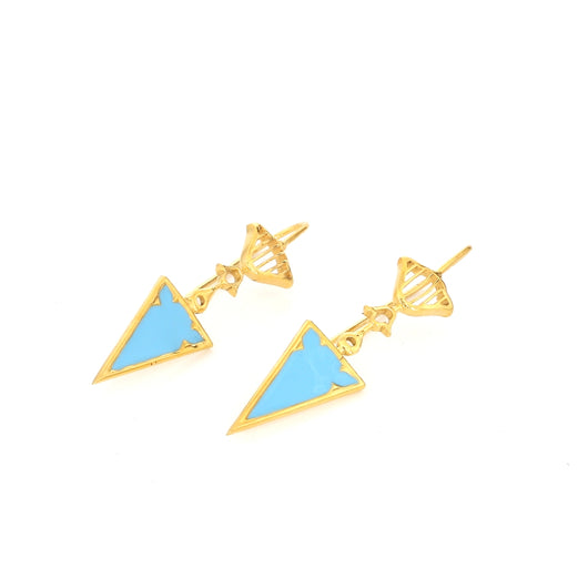 Lattice Enamel earrings - AZGA