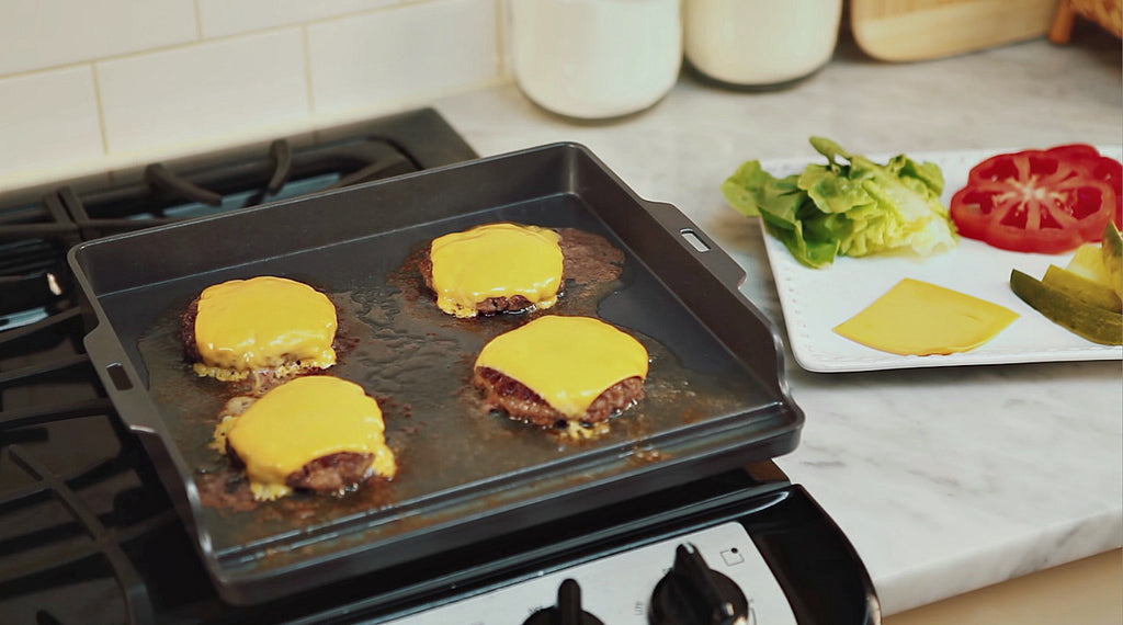 Recipe Idea: Double-Cheeseburgers and Crispy Griddle Fries