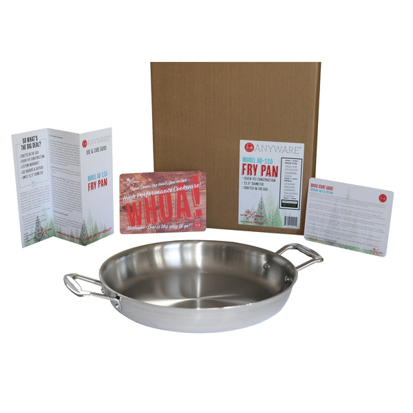 ANYWARE® Outdoor-Indoor Clad Fry Pan Model AQ-115