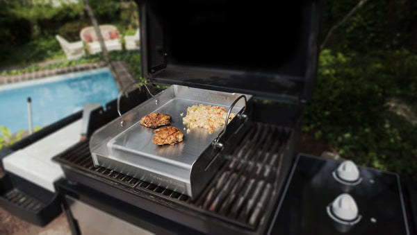 Professional Series Half-Size Stainless Steel BBQ Griddle