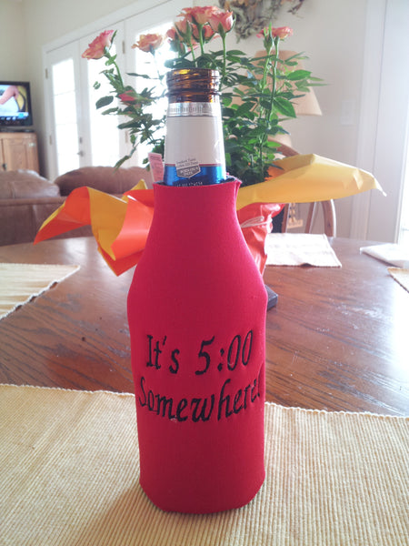 Custom Embroidered Bottle Cozies