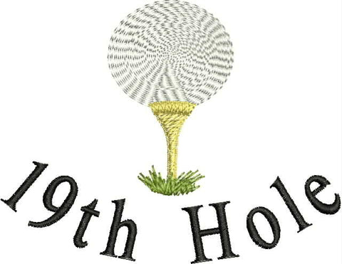 Embroidered Can Cozie - 19th Hole