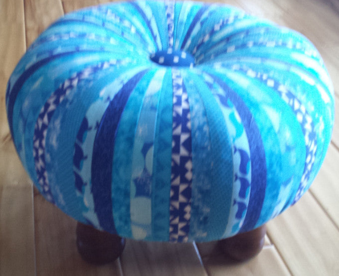 Custom Tuffets by That's Sew Marti! - Ocean Blues