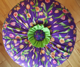 Custom Tuffets by That's Sew Marti! - Springtime Flowers