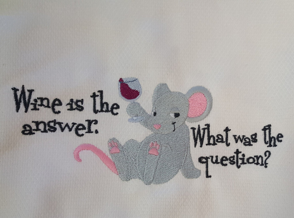 Embroidered Towel - What was the question?