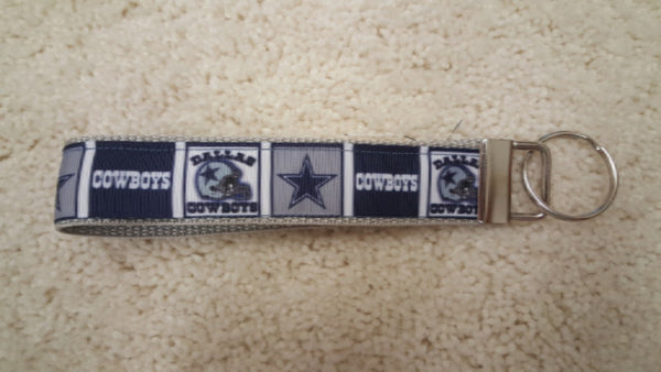 Key Fob Wristlet in team ribbons