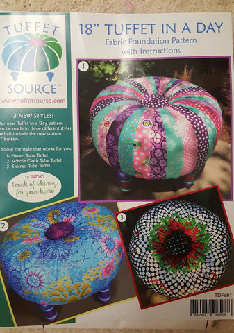 New Tuffet in a Day pattern by Tuffet Source  with Fabric Foundation