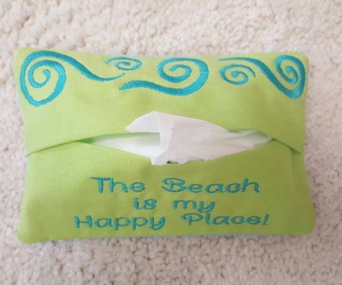Tissue Holder - The Beach is my Happy Place