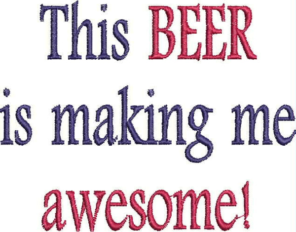 Embroidered Bottle Cozie - What makes me awesome!