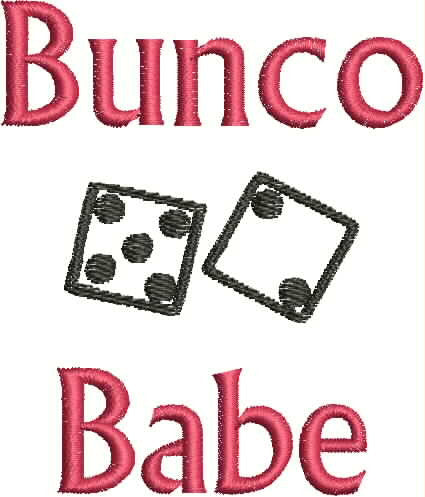 Embroidered Can Cozie - Bunco Babe