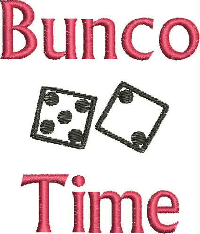 Embroidered Can Cozie - Bunco Time