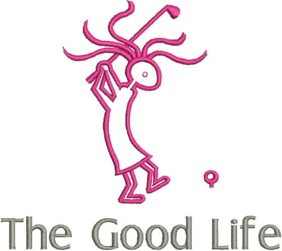 Embroidered Can Cozie - The Good Life