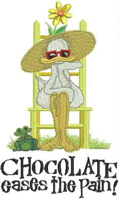 Embroidered Towel - Mitzi the Duck