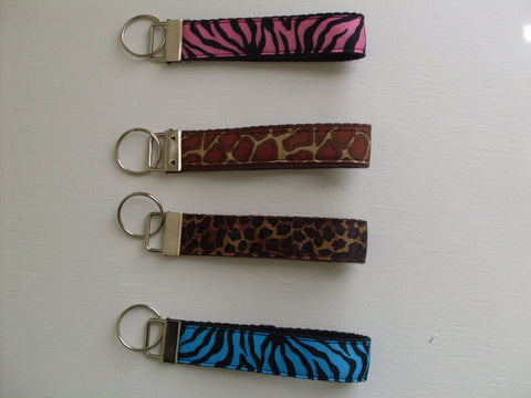 Key Fob Wristlet in Animal Prints