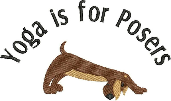 Embroidered Towel - Yoga is for Posers - Yoga Pup