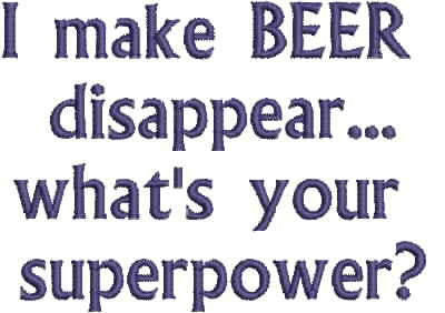 Embroidered Can Cozie - What's your super power?
