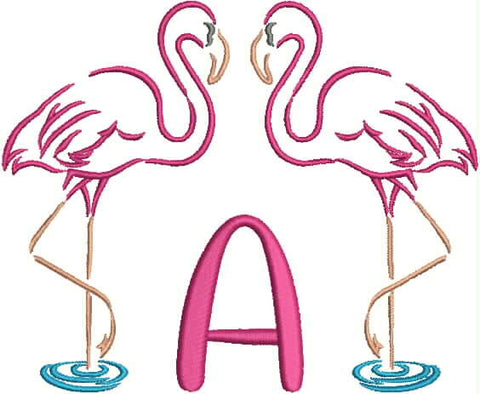 Monogrammed Towel - Flamingo Fun