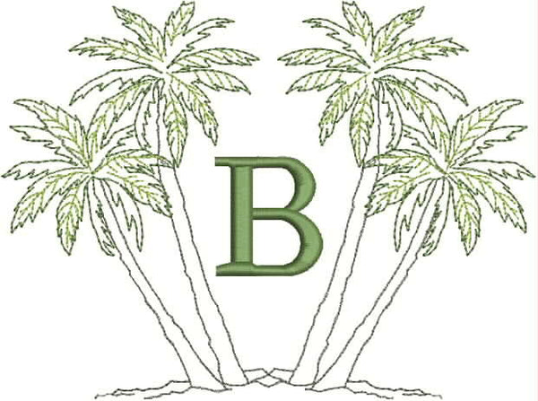 Monogrammed Towel - Palm Trees