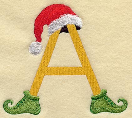 Monogrammed Towel - Christmas Elf