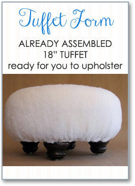 Tuffet Kit  Assembled with choice of Bun Feet