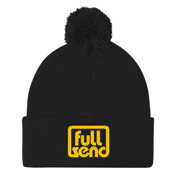 Full Send - Pom Pom Knit Cap