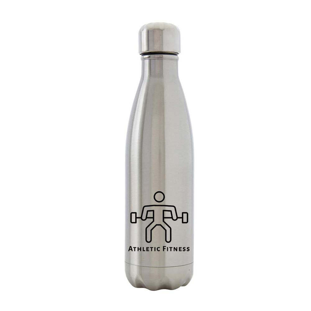 Athletic Fitness - Silver Metal Bottle