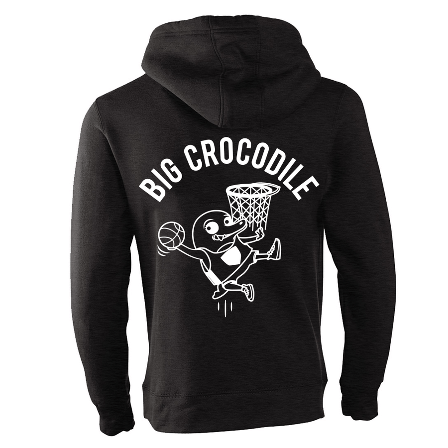 Basketball Fleece Lined Zip Up Hoodie - Big Crocodile