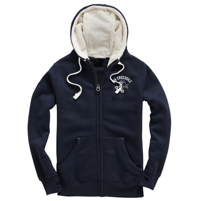 BMX Fleece Lined Zip Up Hoodie - Big Crocodile