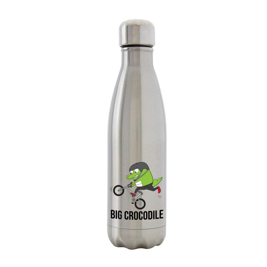 BMX - Silver Metal Bottle