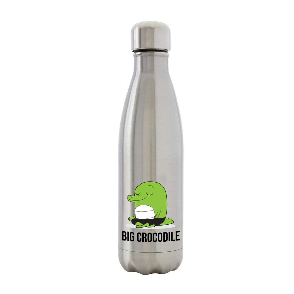 Bottle - Silver Metal Bottle - Choose Your Croc