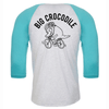 Cyclist Baseball Top - Big Crocodile