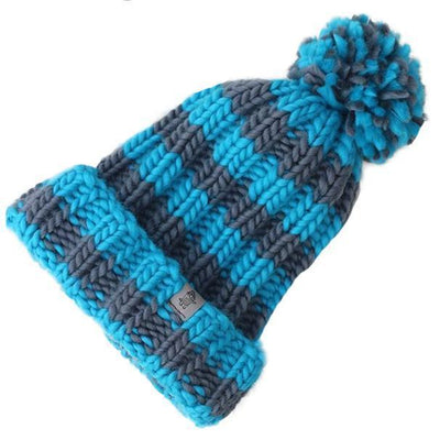 Two Colour Stripe Ribbed Beanie | Design your own Hat - Big Crocodile