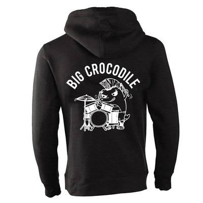 Drummer Fleece Lined Zip Up Hoodie - Big Crocodile