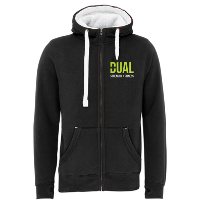 Dual Strength And Fitness Fleece Lined Premium Zip Up Hoodie