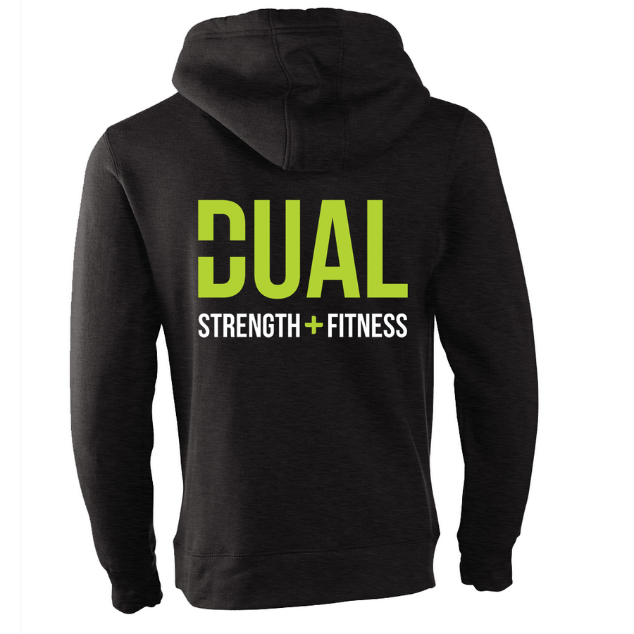 Dual Strength And Fitness - Luxury Zip Up Hoodie