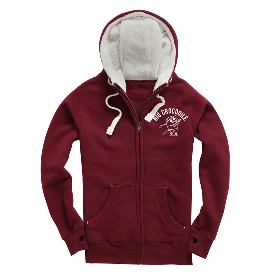 Golfer Fleece Lined Zip Up Hoodie - Big Crocodile
