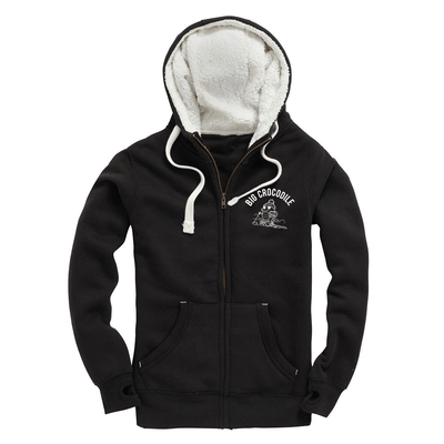 Hiker Fleece Lined Zip Up Hoodie - Big Crocodile