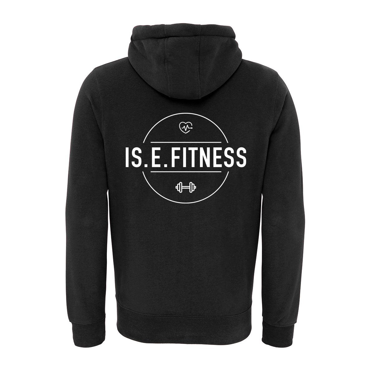 Hoodie - IS.E.FITNESS Fleece Lined Zip Up Hoodie