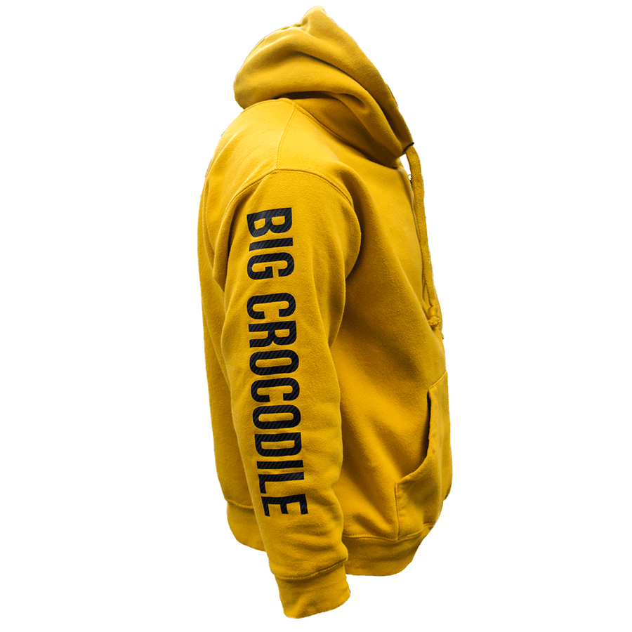 Mustard / Carbon Lightweight Hoodie - Big Crocodile