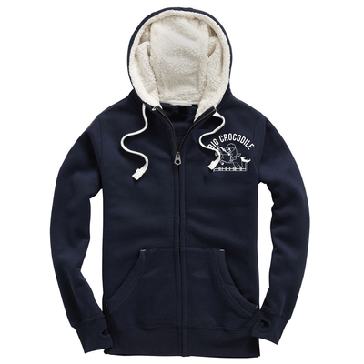 Horserider Fleece Lined Zip Up Hoodie - Big Crocodile