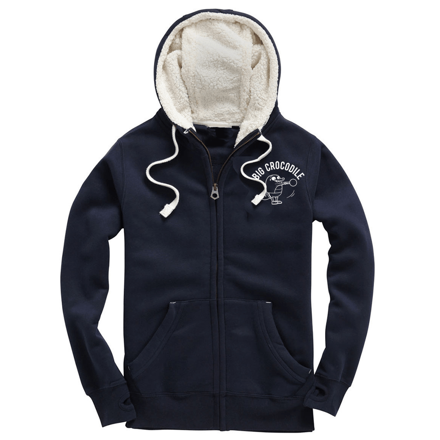 Kettle Bell Fleece Lined Zip Up Hoodie - Big Crocodile
