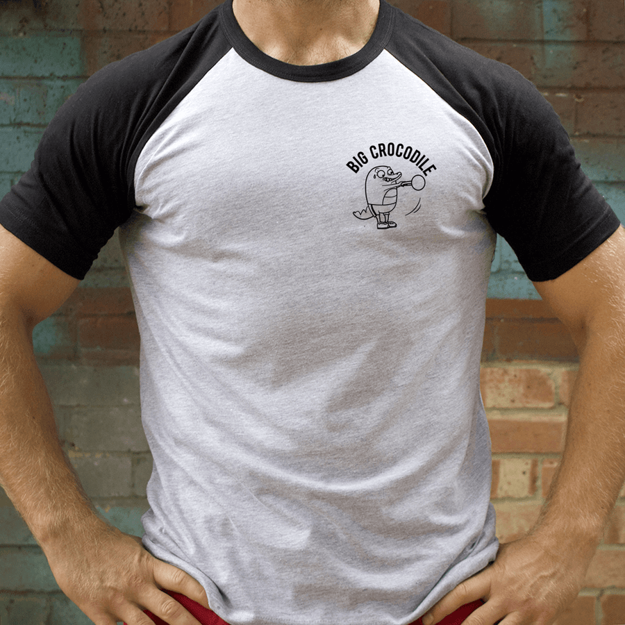 Kettle bell Varsity T Shirt - Big Crocodile