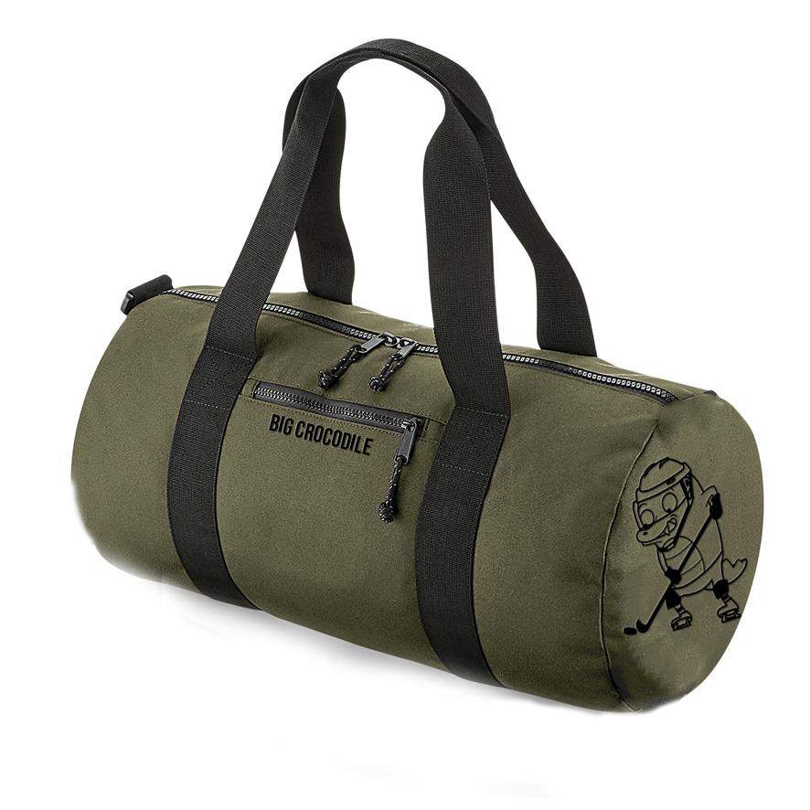 Khaki Barrel Bag - Choose Your Croc