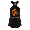 Ladies Vest - Forza Fitness - Classic Black And Orange Racer Back Vest