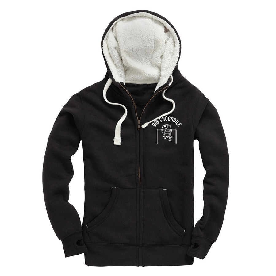 Pull Up Fleece Lined Zip Up Hoodie - Big Crocodile