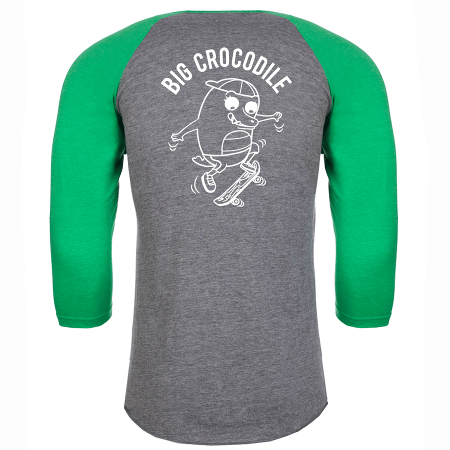Skateboarder Baseball Top - Big Crocodile